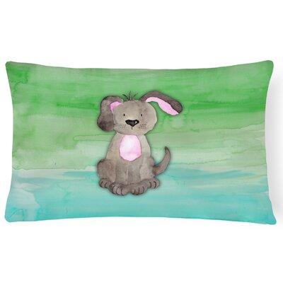 Harriett Dog Watercolor Lumbar Pillow