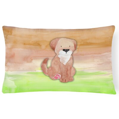 Dog Watercolor Lumbar Pillow