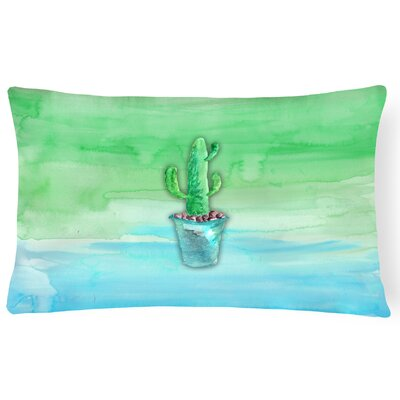 Cactus Watercolor Rectangular Lumbar Pillow
