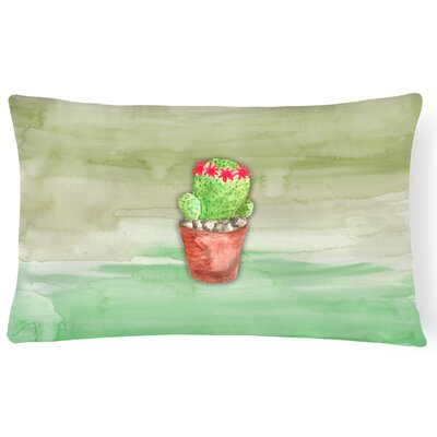 Cactus Watercolor Frabic Lumbar Pillow