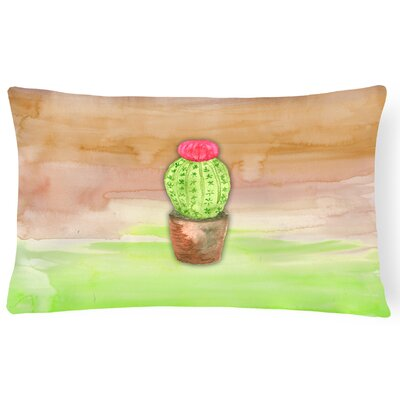 Cactus Watercolor Lumbar Pillow