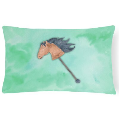 Cecelia Stick Horse Watercolor Lumbar Pillow