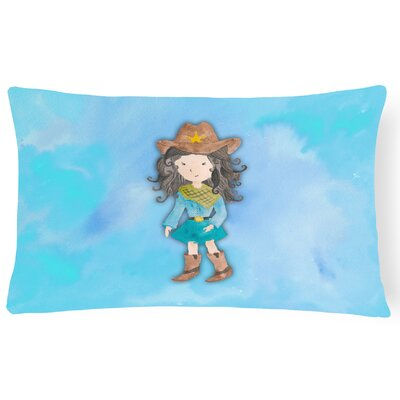 Chelsey Cowgirl Watercolor Lumbar Pillow
