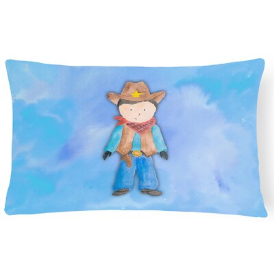 Chris Cowboy Watercolor Lumbar Pillow