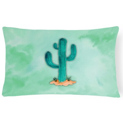 Christina Western Cactus Watercolor Lumbar Pillow