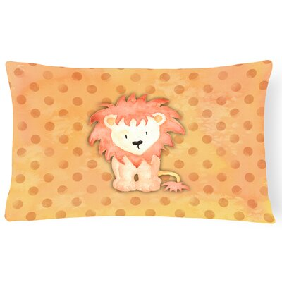 Lion Watercolor Lumbar Pillow