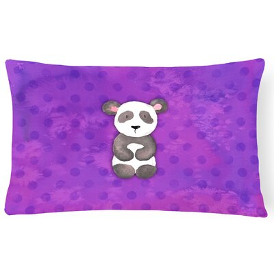 Panda Bear Watercolor Lumbar Pillow