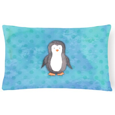 Penguin Watercolor Lumbar Pillow