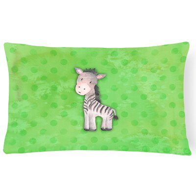 Zebra Watercolor Lumbar Pillow