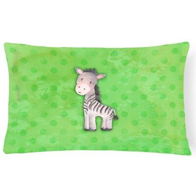 Zebra Watercolor Lumbar Pillow