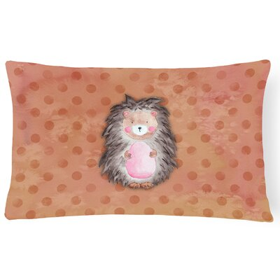 Hedgehog Watercolor Lumbar Pillow
