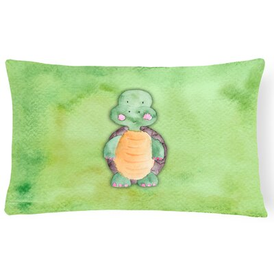Baxter Turtle Watercolor Lumbar Pillow
