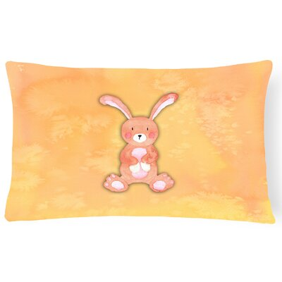 Beatrice Rabbit Watercolor Lumbar Pillow