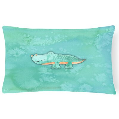 Belinda Alligator Watercolor Lumbar Pillow