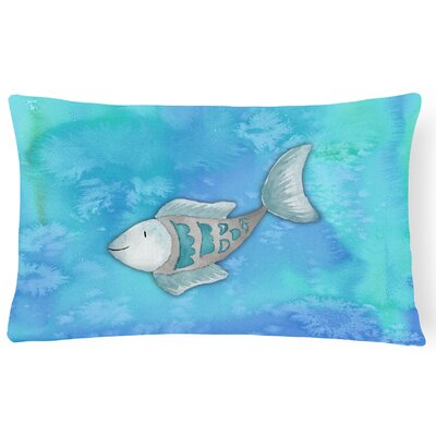 Bella Fish Watercolor Lumbar Pillow