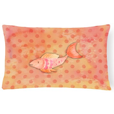 Fish Watercolor Lumbar Pillow