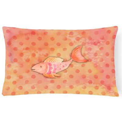 Fish Watercolor Lumbar Pillow