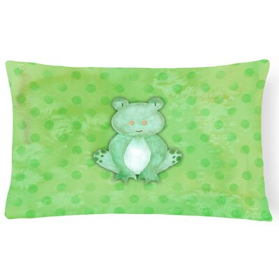 Frog Watercolor Lumbar Pillow