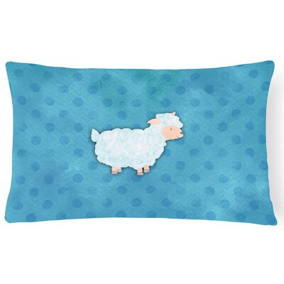 Sheep Lamb Watercolor Lumbar Pillow