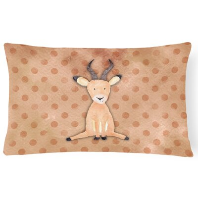 Antelope Watercolor Lumbar Pillow