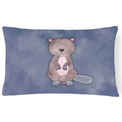 Sabine Beaver Watercolor Lumbar Pillow
