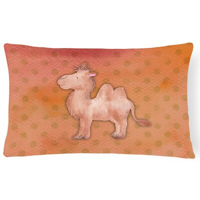 Camel Watercolor Lumbar Pillow
