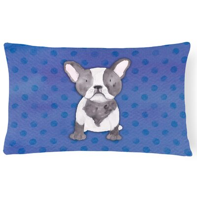 French Bulldog Watercolor Lumbar Pillow