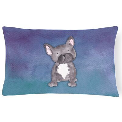 Sabrina French Bulldog Watercolor Lumbar Pillow