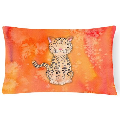 Sadie Leopard Watercolor Lumbar Pillow