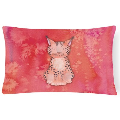 Sally Lynx Watercolor Lumbar Pillow