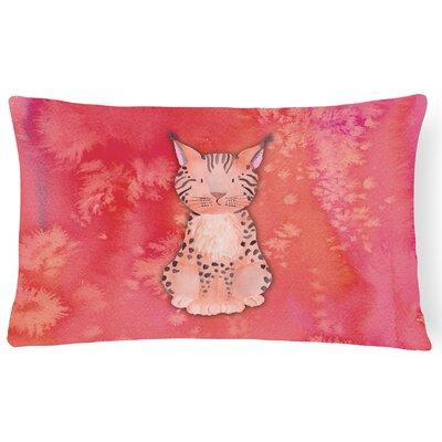 Sally Lynx Watercolor Lumbar Pillow