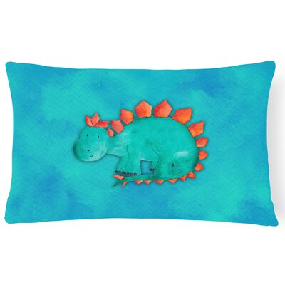 Samantha Stegosaurus Watercolor Lumbar Pillow
