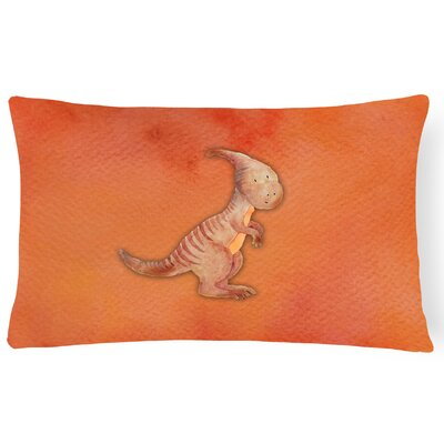 Samuel Parasaurolophus Watercolor Lumbar Pillow
