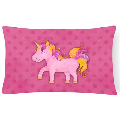 Sean Unicorn Watercolor Lumbar Pillow