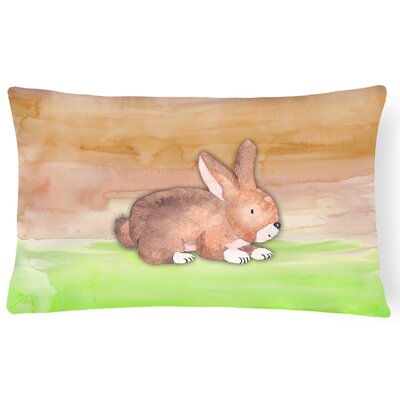 Selma Rabbit Watercolor Lumbar Pillow