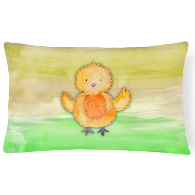 Tracy Chicken Watercolor Lumbar Pillow