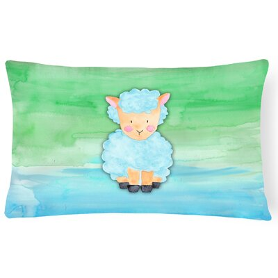 Trevor Sheep Lamb Watercolor Lumbar Pillow