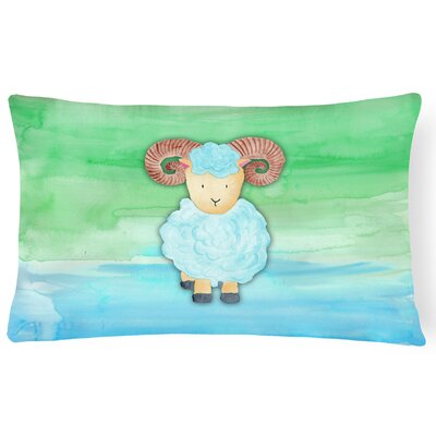 Trista Ram Sheep Watercolor Lumbar Pillow
