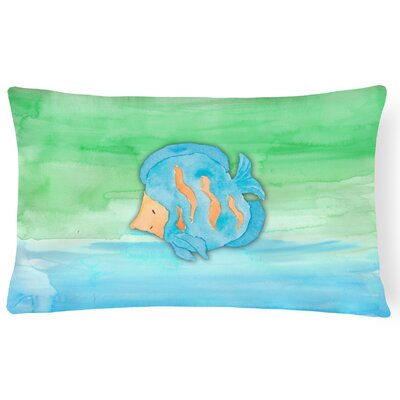 Troy Fish Watercolor Lumbar Pillow