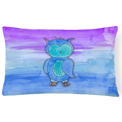 Ursula Owl Watercolor Lumbar Pillow