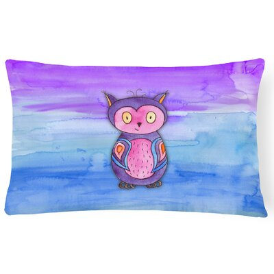 Valentina Owl Watercolor Lumbar Pillow