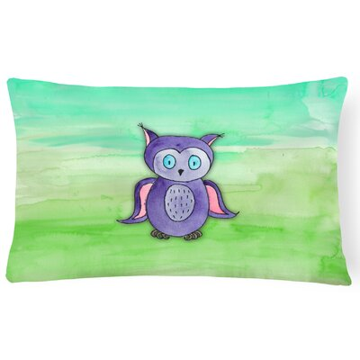 Vaughan Owl Watercolor Lumbar Pillow