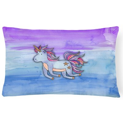 Vickie Unicorn Watercolor Lumbar Pillow