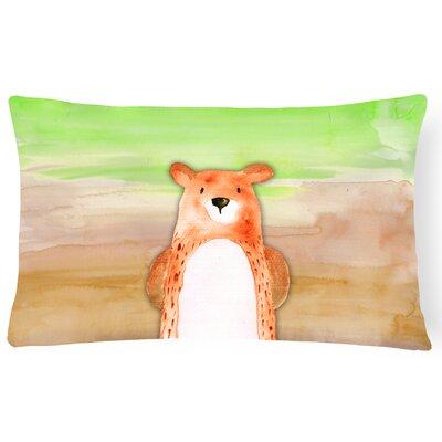 Victor Bear Watercolor Lumbar Pillow