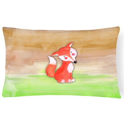 Viola Fox Watercolor Lumbar Pillow