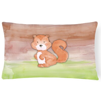 Vivienne Squirrel Watercolor Lumbar Pillow