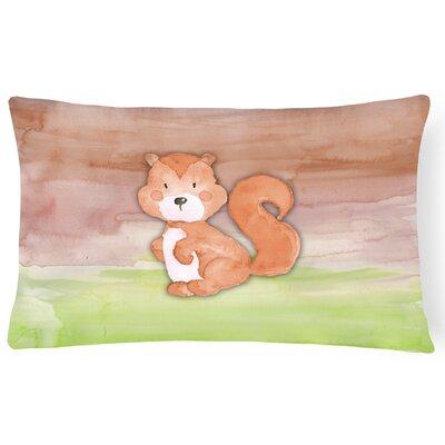 Vivienne Squirrel Watercolor Lumbar Pillow