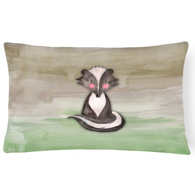 Wanda Badger Watercolor Lumbar Pillow