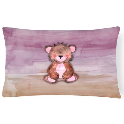 Warner Bear Cub Watercolor Lumbar Pillow