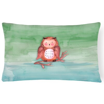 Webster Owl Watercolor Lumbar Pillow